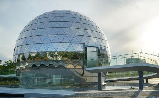 cupola geodetica proiezione film a360